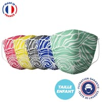 UNS1 30 lavages - Masque enfant motif vague