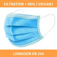 Masques chirurgicaux Type 2R (BFE>98%) masque EN14683:2019